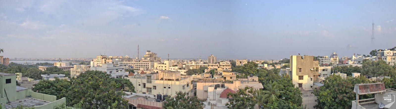 Hyderabad Aussicht vom Tempel