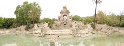 Brunnen im Park von Barcelona
