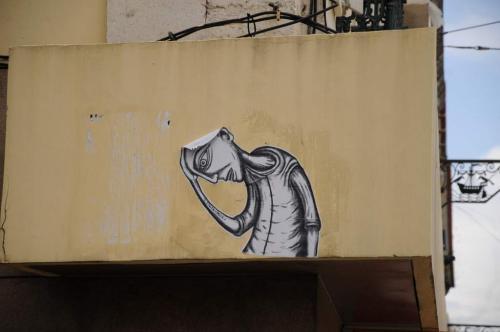 Lissabon Street Art Aufkleber