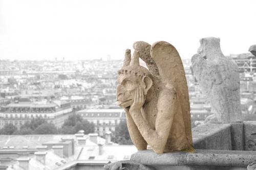 Gargoile auf Notre Dame