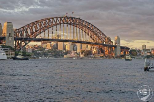 Sydney Harbor Bridge Sonnenuntergang