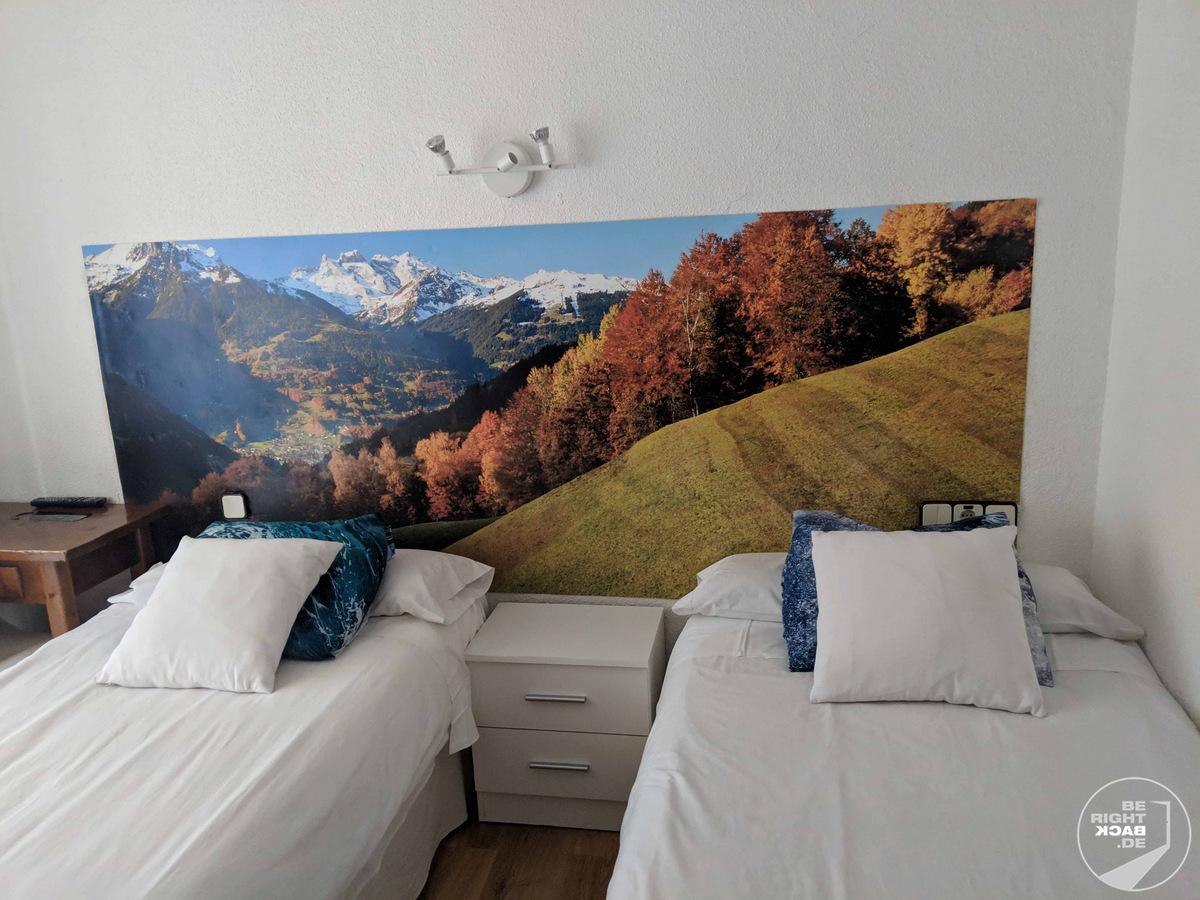Madrid - Hotel Veracruz Blick auf die Alpen