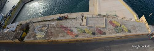 Malta Gummibärstreetart in Valletta
