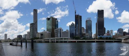 Brisbane Skyline Am Fluss