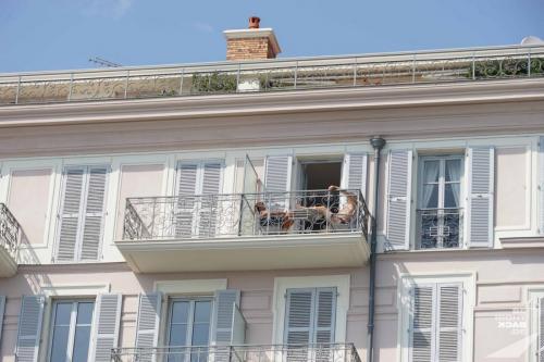 Entspannen auf dem Balkon