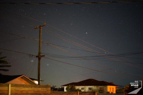 Sternenhimmel an Brians Haus