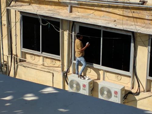 Udaipur Fensterputzer