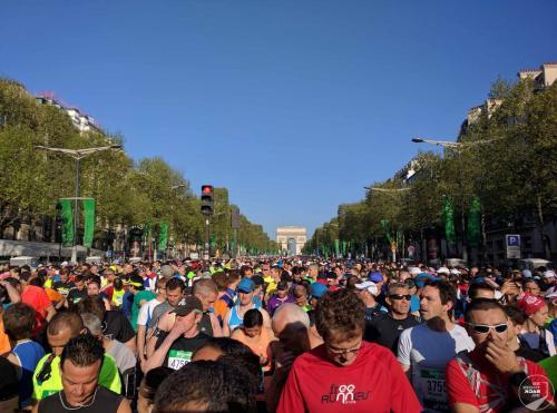 Starter beim Paris Marathon