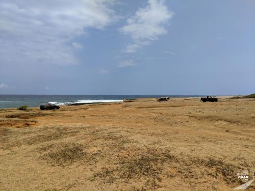 Autowracks am Green Sand Beach