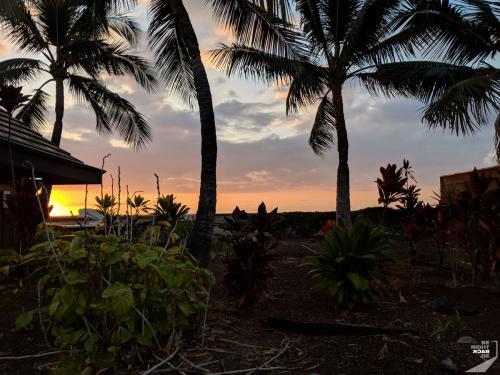 Sonnenuntergang am Kona Airport