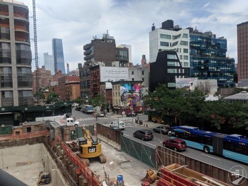 Beustelle neben der High Line
