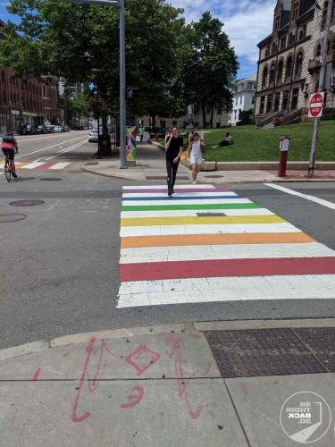 Boston - Regenbogen Zebrastreifen