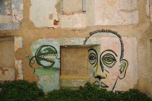 Ruinen Street Art in Lissabon