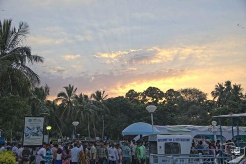 Hyderabad Lumphini Park Sonnenuntergang