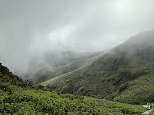 Wolken am Mt Pelée