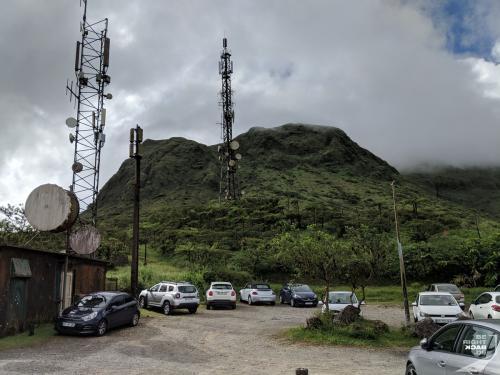 Mt Pelée Parkplatz