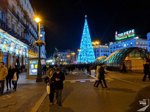 Neujahr auf dem Puerta Del Sol