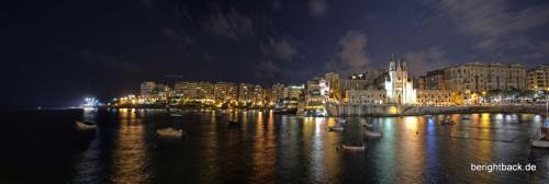 Malta Sliema über die Bucht