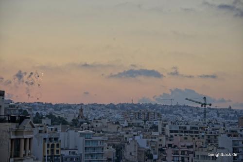 Malta Feuerwerk über Sliema
