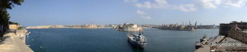 Malta Hafenbucht von Valletta