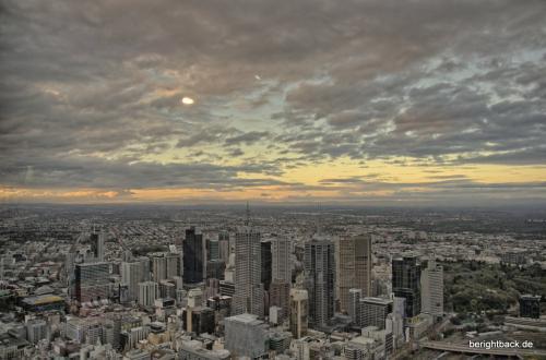 Sonnenuntergang über Melbourne