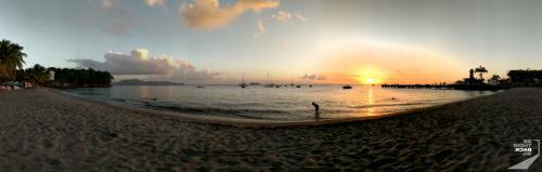 Martinique - Schoelcher Strand Sonnenuntergang