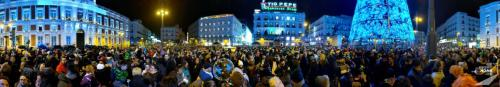 Madrid - Menschenmasse Am Puerta Del Sol