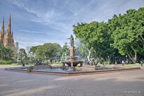 Brunnen im Hyde Park Sydney