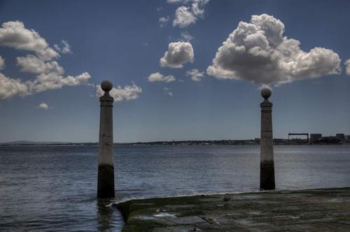 Wolkiges Lissabon